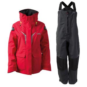 Gill OS31 Coastal Sæt, Dame - Rød jakke