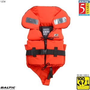 Split Front Børne rednings vest Orange BALTIC 1254