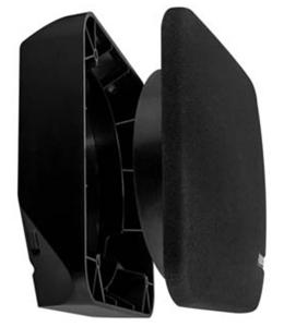 Fusion Shallow Højttaler 3-hjørne Spacer Sort
