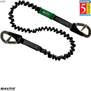 Livline 2 krog elastisk Sort BALTIC 0107