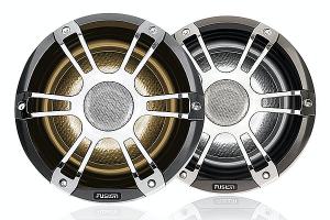 Fusion 6.5 Højttalersæt Chrome + LED