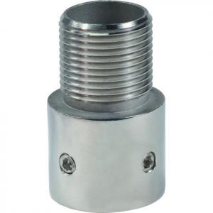 """Shakespeare 4705 Rustfri adaptor. 25mm rør til 1""""-14mm han"""