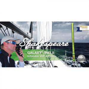 Shakespeare Galaxy-INFL8 1,6m 3dB oppustelig VHF nødantenne