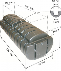 Flydeponton formstøbt opdrift 160kg.