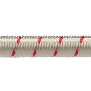 Robline elastik snor 3 mm hvid/rød